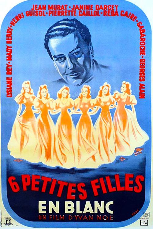 Six petites filles en blanc
